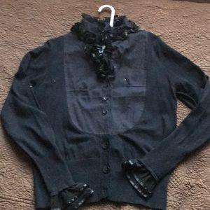 Sweaters - NWT Black Sweater Cardigan (unique)